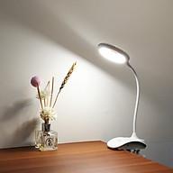 Đèn Bàn LED Đọc Sách, 3 Chế Độ Ánh Sáng, Xoay 360 Độ Bảo Vệ Mắt Chống Cận Thị thumbnail