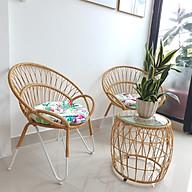 Bộ bàn ghế sân vườn (sắt đan sợi nhựa giả mây) thumbnail