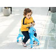 Xe chòi chân trẻ em, xe tập đi, bánh xe xoay đa điểm im lặng, có nhạc thumbnail