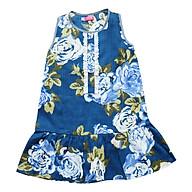 Đầm Bé Gái Đuôi Cá Hoa Xanh CucKeo Kids T121824 - Xanh thumbnail