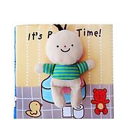 Đồ chơi - Sách vải Vệ sinh - It s Potty Time (Giúp bé rèn luyện tính tụ giác đi vệ sinh) thumbnail