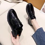 Giày oxford đế bằng da bóng thumbnail
