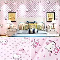 Combo 10M giấy dán tường Mèo Kitty Hồng Nhạt (10mx0.45m) thumbnail