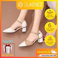 Giày Sandal Nữ Đế Cao Gót Vuông 5cm Cá Tính Thời Trang Cao Cấp Ladiez Phối Màu Đẹp Chất Da Lỳ Mềm Êm Chân Xinh Xắn thumbnail