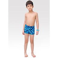 Quần bơi bé trai Narsis KQ0001 màu đen phối vân xanh dương thumbnail