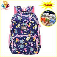 Balo đi học cho bé gái siêu nhẹ, cặp sách dành cho bé gái cấp 1 tiểu học (Tặng 1 kẹp tóc nơ màu ngẫu nhiên) E399 thumbnail