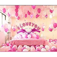Set bong bóng trang trí phòng cưới, phòng tân hôn lãng mạn Macaron-102 (bóng chưa bơm) thumbnail
