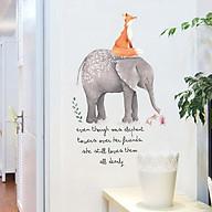 Decal dán tường elephant and fox XL7241 thumbnail