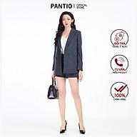 Áo vest nữ kẻ, hai túi BAV92243 - PANTIO thumbnail