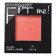 Phấn Má Hồng Mịn Nhẹ Tự Nhiên Giữ Màu Chuẩn Fit Me Blush Maybelline New York 4.5g thumbnail