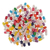 100 Cái Nhựa Nhỏ Dễ Thương Capsule Tin Nhắn Chai Chúc Trang Trí Chai thumbnail