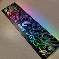 Tấm che hộp nguồn máy tính có Led 5v ARGB logo Aorus, đồng bộ màu mainboard hoặc Hub khiển, hình mạch điện vô cực - Hàng nhập khẩu thumbnail