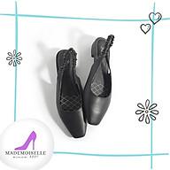 Giày Bệt Thời Trang Nữ Công Sở Mũi Vuông Gót Vuông 2cm Size 35 39. Phù Hợp Đi Chơi Dạo Phố 3 màu Đen Hồng Pastel Xám thumbnail