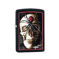 Bật Lửa Zippo Mazzi Spider And Skullblack Chính Hãng Usa thumbnail