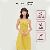 Đầm nữ dáng xòe thiết kế 2 dây xếp ngực GUMAC DB311 thumbnail