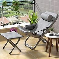 ghế thư giãn thông minh gấp gọn tặng đệm 4D, ống thép dày, mặt ghế 2 lớp chống lún, khóa hợp kim nhôm cao cấp chính hãng thumbnail