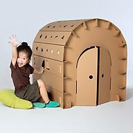 Ngôi nhà lắp ghép thông minh cho bé sáng tạo, ngôi nhà bằng bìa carton cứng cáp và an toàn cho bé thumbnail