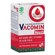 Viên Uống Bổ Sung Sắt (Fe) Cho Người Có Nguy Cơ Thiếu Máu Kết Hợp Acid Folic, Vitamin C, E, B6 - TPCN Shinpoong Vacomin Hevit Hộp 60 Viên thumbnail