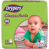 Tã Quần Drypers ClassicPantz Gói Đại M58 (58 Miếng) + Tặng 1 Gói Cùng Loại thumbnail