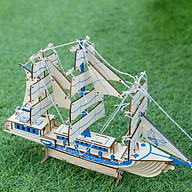 Đồ chơi lắp ráp gỗ 3D Mô hình Thuyền buồm Laser thumbnail