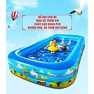 Bể Bơi Bằng Hơi Dành Cho Bé 1.5 Mét 3 Tầng Tặng Kèm Dụng Cụ Bơm Hơi Đạp Chân Và Miếng Vá thumbnail
