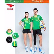 Bộ quần áo cầu lông cao cấp thương hiệu HIWING W2 màu xanh lá thumbnail