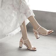 Sandal Giày Cao Gót Công Sở Đẹp Basic Da Lì Quai Hậu Đế Vuông Cao Cấp Cao 7 Cm Phong Cách Hàn Quốc. thumbnail
