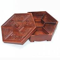 Khay mứt tết - hộp đựng mứt tết gỗ hương chạm Phúc Lộc Thọ K668 thumbnail