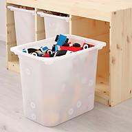 Hộc nhựa trắng cỡ đại 42x30x36 cm- hộc đồ chơi- hộc chứa đồ thumbnail