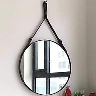 Giương tròn treo tường viền dây da simili cao cấp 60cm thumbnail
