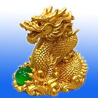 Tượng Rồng Vàng Ôm Châu 12 cm , Rồng Linh Vật Phong Thủy Biểu tượng cho Sức Mạnh, Uy Quyền, Giàu Có TPT079 thumbnail