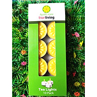 Nến tealight 10 viên màu vàng không mùi dày 1.5cm cháy từ 4h-5h Bio Aroma thumbnail