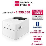 Máy in nhiệt Deli DL-750W in đơn hàng, tem mã vạch, hóa đơn, livestream, dùng giấy in nhiệt tự dán - Hàng chính hãng thumbnail