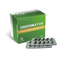 Greenmaton - Bổ sung các vitamin, khoáng chất và acid amin thiết yếu cho cơ thể giúp ăn ngon, ngủ tốt - Hộp 100 viên thumbnail