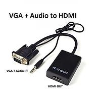 CÁP CHUYỂN ĐỔI VGA KÈM AUDIO SANG HDMI thumbnail