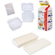 Combo khay hộp trữ đông thực phẩm ăn dặm cho bé + tặng 5 zipper 10x15cm thumbnail