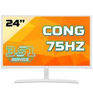 Màn hình cong Acer ED242QR(White) Abidpx 24 VA 75Hz FreeSync chuyên game - Hàng Chính Hãng thumbnail