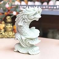 Cá Chép Hóa Rồng đá tự nhiên trắng xanh(Cặp) - Roxi thumbnail