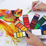 Màu Nước Water Color Cao Cấp Dạng Thẻ Nén 18 25 33 42 Màu, Tặng Kèm Bút Vẽ - Chuyên Dùng Cho Học Sinh, Sinh Viên, Vẽ Chuyên Nghiệp - Hàng Chính Hãng - VinBuy thumbnail