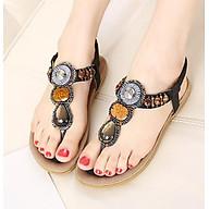 Giày Sandal Quai Kẹp Đính Đá Thổ Cẩm - 15LA thumbnail