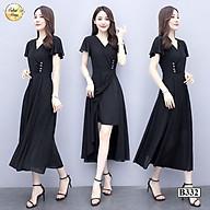 Váy đầm suông B332 Đen thời trang nữ hàng thiết kế Cao Cấp thumbnail