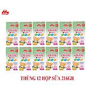 Thùng 12 hộp Sữa Morinaga Số 3 Kodomil 216g Cho Bé Từ 3 Tuổi hương dâu, hương Vani ( không tem đổi quà) thumbnail
