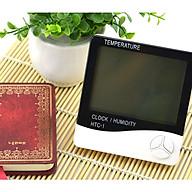 Đồng hồ hiển thị giờ, nhiệt độ, độ ẩm HTC-1 - Tặng kèm 01 móc dán tường ngẫu nhiên thumbnail