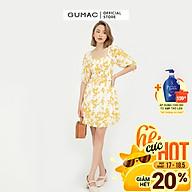 Đầm dáng xòe nữ thiết kế nhún ngực kết hợp họa tiết GUMAC DB545 thumbnail