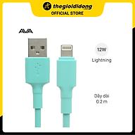 Cáp Light-ning 20 cm AVA LTPL-01 Xanh - Hàng chính hãng thumbnail