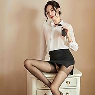 Sexy lingerie sexy tight-fitting buttocks secretary uniform temptation teacher suit nightclub (Q19) thumbnail