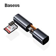 Đầu đọc thẻ nhớ đa năng cổng giao tiếp USB Type C Baseus Mini Cabin Card Reader cho Smartphone Tablet Macbook Laptop (TF SD Card Reader) - Hàng chính hãng thumbnail