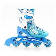 Giày Patin Cougar 703 hàng chính hãng thiết kế bắt mắt nhưng vẫn mang lại đôi giày có đầy đủ tính năng phù hợp với những bạn bắt đầu tập chơi với bộ môn patin phù hợp với các bé từ 3 tuổi đến 14 tuổi là trò chơi lành mạnh giúp bé rèn luyện tăng cường sức khoẻ tốt hơn thumbnail