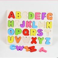 Bảng chữ cái tiếng Anh bằng gỗ thumbnail