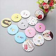 Combo 3 Gương tròn mini trang điểm, gương bỏ túi phong cách Hàn Quốc tiện dụng - giao mẫu ngẫu nhiên thumbnail